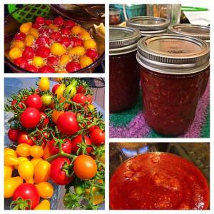 tomato jam collage
